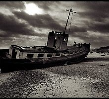 A wreck on the beach at Covehithe by Pagwag
