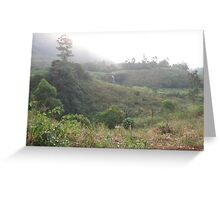 an awesome Cameroon landscape Greeting Card