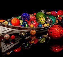 Boat Of Floats Ikebana by Jordan Blackstone