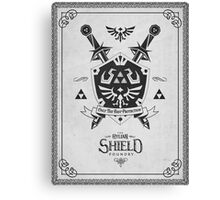 Legend of Zelda Hylian Shield Geek Line Artly  Canvas Print
