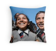 Happiness of youth Throw Pillow