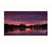 Unrivaled Sunset...Gipsland,Victoria Art Print