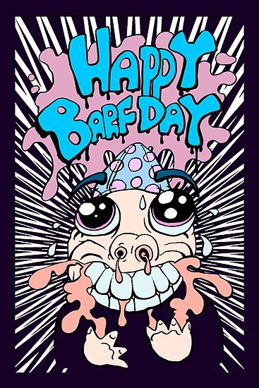 HAPPY BARFDAY Card version 2 by DavidShame