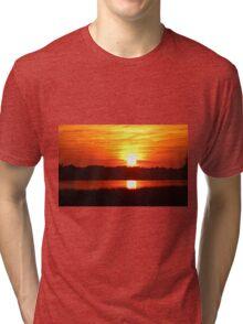 Autumn Gold Sunset Tri-blend T-Shirt