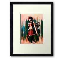 Mari Makinami Evangelion Anime Tra Digital Painting  Framed Print