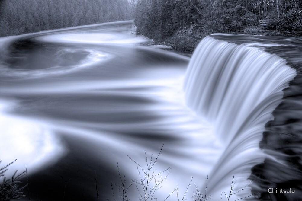 Tahquamenon falls Black and Blue by Chintsala