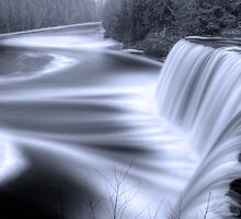 Tahquamenon falls Black and Blue by Chintsala