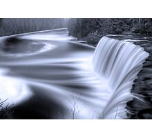 Tahquamenon falls Black and Blue Photographic Print