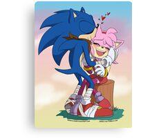 Sonic&Amy: Kisses Canvas Print