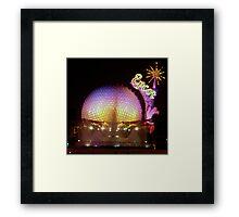 """""""Epcot at Night"""" Framed Print"""