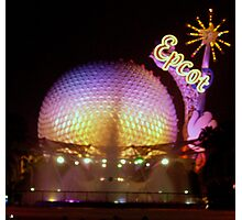 """Epcot at Night"" Photographic Print"