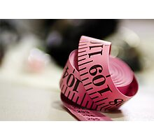 Red Tape Photographic Print