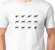 Reindeer on the Run Unisex T-Shirt