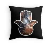Hamsa Milky Way Throw Pillow