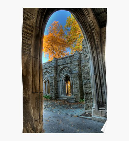 Fall Colors From The Washington Memorial Chapel Poster