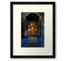 Autumn Colors From The Washington Memorial Chapel Framed Print
