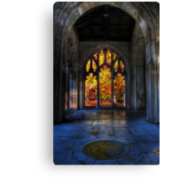Autumn Colors From The Washington Memorial Chapel Canvas Print