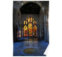 Autumn Colors From The Washington Memorial Chapel Poster