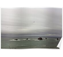 Coast Guard South of Port Orford Oregon Poster