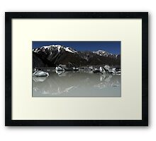 In the Hall of the Mountain King- Tasman Glacier Lake Framed Print