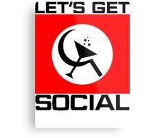 Let's Get Social Metal Print