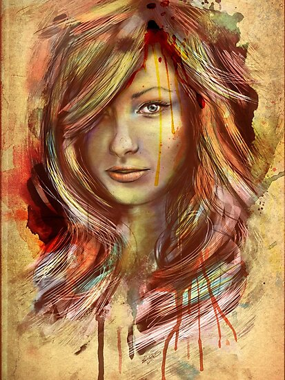 Olivia Wilde Portrait Tra Digital Painting by barrettbiggers