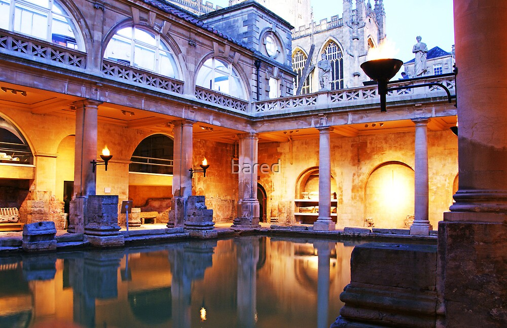 Bath spa at dusk. by bared