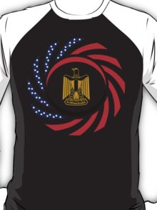 Egyptian American Multinational Patriot Flag Series T-Shirt