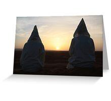 Djellaba sunrise (Sahara desert, Morocco) Greeting Card