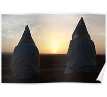 Djellaba sunrise (Sahara desert, Morocco) Poster