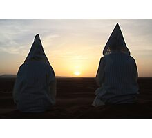 Djellaba sunrise (Sahara desert, Morocco) Photographic Print
