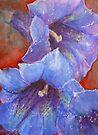 Bluest Blue Gentians by JayteesArt