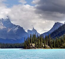 Spirit Island and Mountains by Jann Ashworth