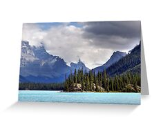 Spirit Island and Mountains Greeting Card
