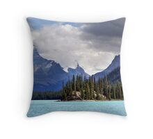 Spirit Island and Mountains Throw Pillow