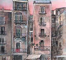 Street Scene In Twilight by arline wagner