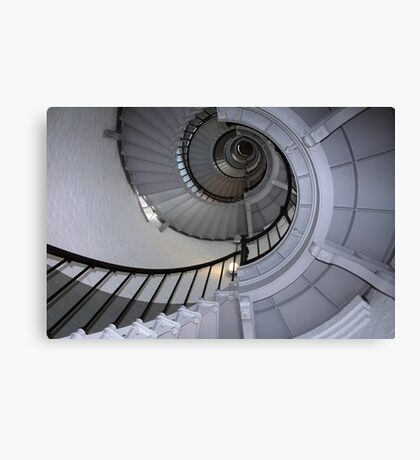 Florida lighthouse stairs Canvas Print