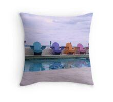Compass Point Chairs, Nassau, Bahamas Throw Pillow
