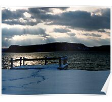 View of Hudson River from Ossining, NY Poster