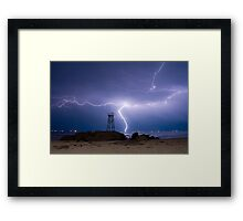 Lightning Blues Framed Print