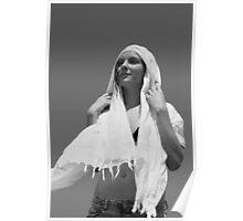 Woman With Shawl #1 Poster