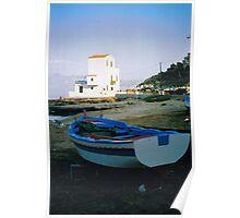 Beach of Sant'Elia, Fishermen Boat. Sicily, Italy, near Palermo Poster