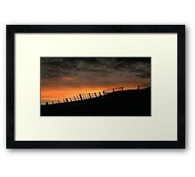 Barrabool Hills Skyline Framed Print