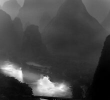 Li River Bridge, Yangshuo by imagesbyjillian