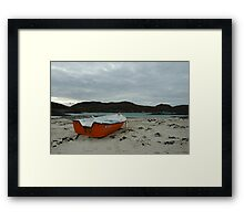 Red Boat at Sanna Framed Print