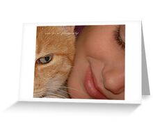 Purr-fect Love © Vicki Ferrari Photography Greeting Card