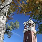 Bryan Clock Tower In Fall On The WSU Campus - Pullman, Washington by JaneLoughney