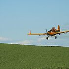 Crop Duster Spraying In Eastern Washington's Palouse Country  by JaneLoughney