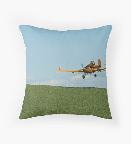 Crop Duster Spraying In Eastern Washington's Palouse Country  Throw Pillow