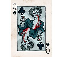 Vampire Queen of Clubs Photographic Print